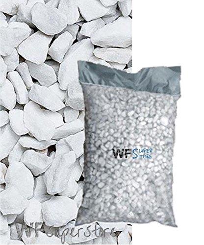 WUEFFE S.R.L. Graniglia di Marmo Bianco Carrara 9/12mm - Sacco da 25 kg - Sassi Pietre Giardino