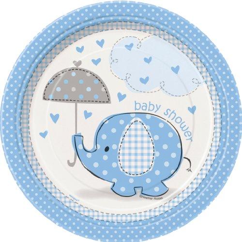 Unique Party 105.905,3cm CO Umbrellaphants blau Baby Dusche