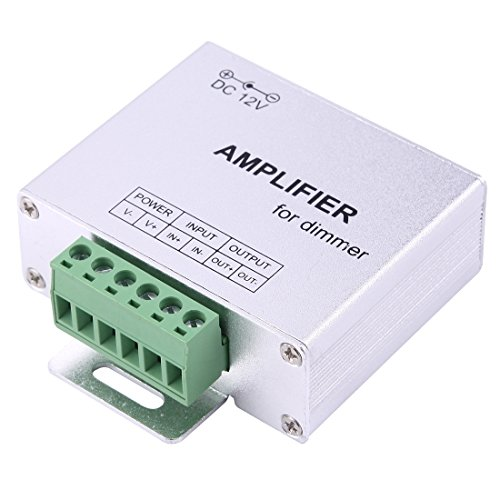 Light Controller, SX-A02 Signal Channel Double Board Amplifier LED Controller, DC 12-24V