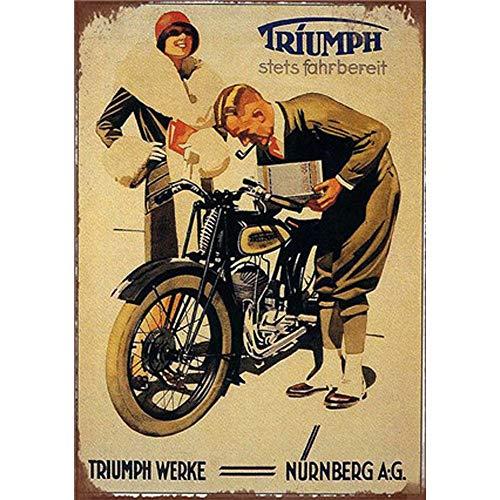 YOMIA Poster Vintage Metallschilder Blechschild Bar Wanddekoration Metallschilder Wandkunst Metallplakat Büro Hobby Shop Pub Sammlermeister Gentleman Lady Bike
