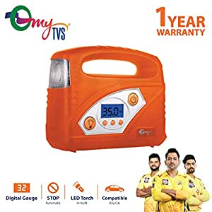 myTVS TI-87 Portable Digital Auto Cut-Off Car Tyre Inflator with 1 Year Warranty