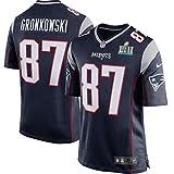 Eckd Aczs Men's New England Patriots Trikot 87 Rob Gronkowski Navy Super Bowl LII Jersey Size 56(XXXL)