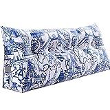 WENZHE Kopfteil Kissen Bett Rückenkissen Rückenlehne Stoff Dreieck Softcase Zuhause Schlafzimmer Rückenlehne Gürtel Doppelt, 5 Farben (Farbe : 2#, größe : 180x45x20cm)