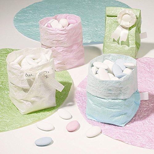 Vivant doux bébé Mini sac en papier (9.5 x 6.5 x 6.5 cm, Nil, Lot de 5)