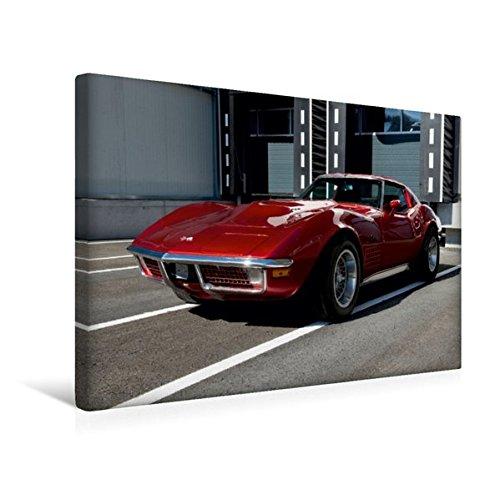 Calvendo Premium Textil-Leinwand 45 cm x 30 cm quer, Corvette C3 | Wandbild, Bild auf Keilrahmen, Fertigbild auf echter Leinwand, Leinwanddruck Mobilitaet Mobilitaet - Hat C4 Corvette