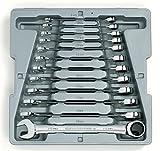 Clé 941212pièces Ensemble de clé mixte à cliquet métrique 8-19mm Outil