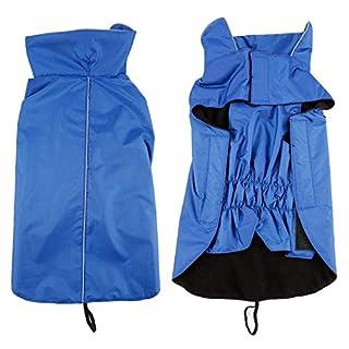 Anladia Dog Raincoat Waterproof Size M–XL Black/Red/Blue