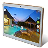 YELLYOUTH 3G Unlocked Tablet 10 inch with Android Quad Core 1GB RAM 16GB ROM HD IPS Screen Dual Sim Card Slot WIFI Bluetooth GPS Phone Call 10.1 Phablet PC (White)