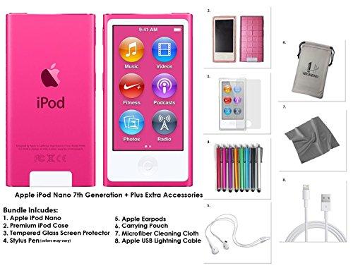 apple-ipod-nano-16-go-rose-accessoires-supplementaires-7eme-generation-nouveau-modele-juillet-2015