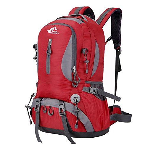 asiki 40L reißfest und wasserabweisend Sport Camping Wandern Rucksack Bergsteigen Rucksack Trekking Rucksack Reisen Rot