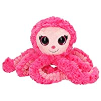 Depesche 10613 Plush Toy Ylvi and the Minimoomis Octopus Ahooy Pink Approx. 23 cm, colourful