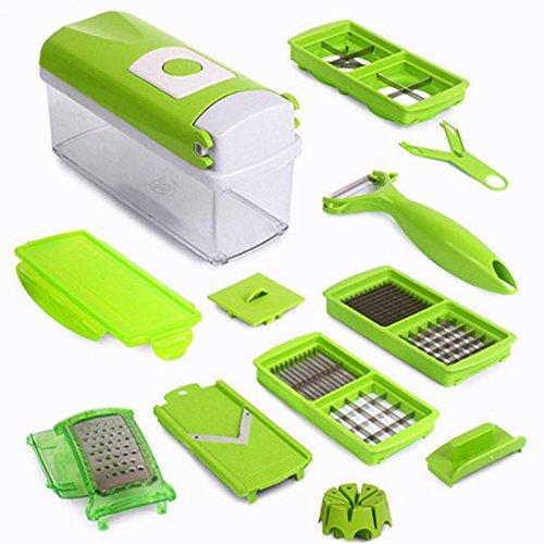 MEICHEN Set di cucina gadget multiuso trituratore cucina tagliere manufatti di 12 Julienne fetta dadi