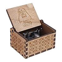NELNISSA LED Light/Heart/Carousel/Engraved Wooden/Wooden Animal/Christmas/Touch Sensation/Ballerina Girl Music Box Gifts for Friends Toys for Kids Home Decoration (Star Wars)
