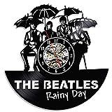 GLJF The Beatles Wanduhr Schallplatte Uhren Batteriebetriebene Dekoriert Wohnzimmer Geschenk