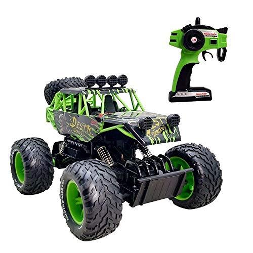 Kikioo RC Car, 4WD Bigfoot Off Road im Maßstab 1:18, Elektro-Rennwagen (RTR) mit Hochgeschwindigkeits-Green-Rock-Crawler-Monstertruck, 2,4-GHz-ferngesteuertes Fahrzeug for Kinder und Erwachsene, Kinde