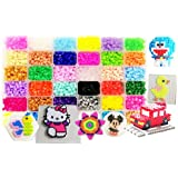 vytung Fuse Beads Kit-10000Pcs 36Colors(6 Glow in Dark) 5Pegboards 89 Patterns(29 Full Size) Ironing Papers Tweezers Storage Case Hama Compatible Kit