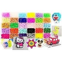 vytung Lote de 10000 Abalorios,36 Color(6 Brillar en Oscuridad) de los Granos DIY de Perler Caja de fusibles Conjunto de Perlas de 5 mm Hama Beads (5Template + 89Imagine + 6Cart de Hierro + 2 Pinzas)