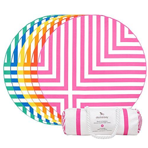 round-beach-towel-pink-cross-design-190cm-roundie-beach-spread-sand-free-beach-blanket