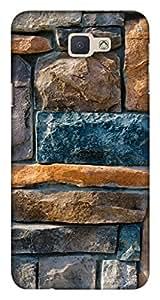 Blutec Decorative Stone Cladding Design 3D Printed Hard Back Case Cover for Samsung Galaxy J5 Prime
