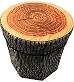 JMAHM sgabello pieghevole di stoccaggio di stoccaggio pieghevole, Brown - wood stakes