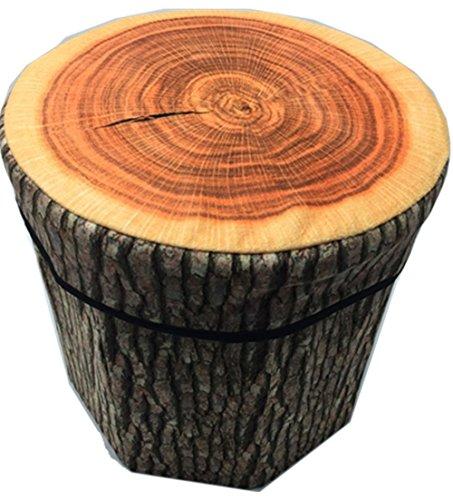 JMAHM Taburete Plegable de Almacenamiento, Brown - Wood Stakes