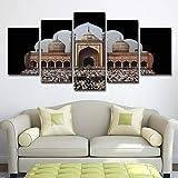 DOORWD Leinwanddruck Wandbilder Home Dekorativ 5-teilig Großplakat Schloss 30x40cmx2 30x60cmx2 30x80cmx1 Kein Rahmen