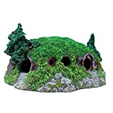 iBaste Felsformation mit Höhle Pflanzen Fisch Tank Ornament Dekoration für Aquarium