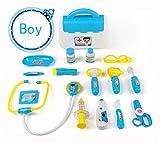 Cuadro Médico Conjunto Enfermera Doctor Kit Simulación Juguetes de Rol para Niños 15 Piezas Edad 3 y Arriba Azul Rosa Azul