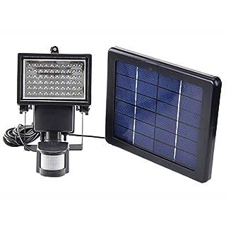 PIR Motion Sensing Lichtsensor LED Lampe 60 LEDs 3W 9V Sonnenkollektor Wiederaufladbare Batterie Scheinwerfer für Zuhause Korridor
