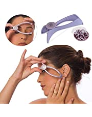 COBRA Eyebrow Face and Body Hair Threading and Removal System, tweezers for eyebrows, threading tool, threading machine for women, threading epilators for women (Purple)
