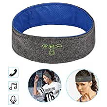 CestMall Fascia per Lo Sport Soft Bluetooth Wireless Headband Wicking Soft per chiamate di Musica per Il Fitness all'aperto