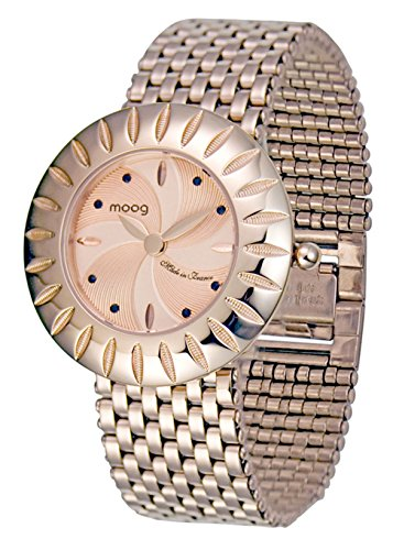 Moog Paris Petale Women's Watch with Rose Gold Dial, Rose Gold Stainless Steel Strap & Swarovski Elements - M45584-003