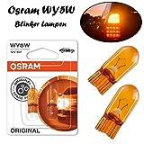 2x Osram Original WY5W 12V T10 W2.1x9x5d 2827NA-02B Gelb - Amber Ersatz Halogen Birne für Blinkleuchte - Blinker vorne Blinker hinten Blinker seitlich E-geprüft