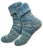 1 Paar Extra warme und weiche Thermo Socken mit Umschlag ( 1Paar Blau, 39-42 )