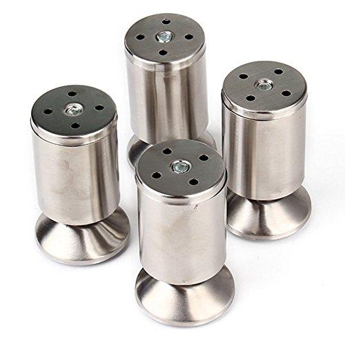 Schrank Leg (50mm x 80mm Edelstahl Einstellbare Küchenschrank Kabinett Füße Runde Möbel Leg 4-Pack)