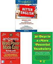 Better English+Word Power Made Easy+30 Days to More Powerful Vocabulary(Set of 3 books)