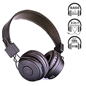 Avantree Casque Bluetooth utilisation filaire ou sans fil, haute qualité d'audio , 18h temps de musique , compatible avec tous les Smartphones, tablets, PC dotés de fonction Bluetooth - Hive