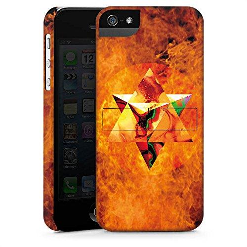 Apple iPhone X Silikon Hülle Case Schutzhülle Feuer Geometrisch Kollage Premium Case StandUp