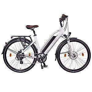 NCM Milano 28 Zoll Trekking / City / Urban E-Bike, 48V 250W Das-Kit Heckmotor, 48V 13Ah 624Wh, Designer Rahmen Akku mit Li-Ion Zellen, mechanische Tektro Scheibenbremsen, 7 Gang Shimano Altus Gangschaltung, weiß