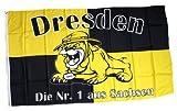 Fahne / Flagge Dresden Bulldogge Fan NEU 90 x 150 cm