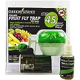 greenstrike reutilizable moscas de la fruta trampa con soporte, verde, 10,16x 10,16x 10,16cm)