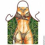 ITATI Delantal Sexy Parrilla Barbacoa Delantal de Cocina Antimanchas para Mujer, Modelo Jane de Tarzán, Medidas 75 x 58 cm