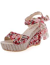 Gbs Mujer Audrey Zapatillas Calzado De Casa Zapatos Señoras Rosa 36