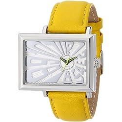 EOS New York Unisex 214SYEL Mad Hatter 2.5 Off Center Dial Armbanduhrin Yellow