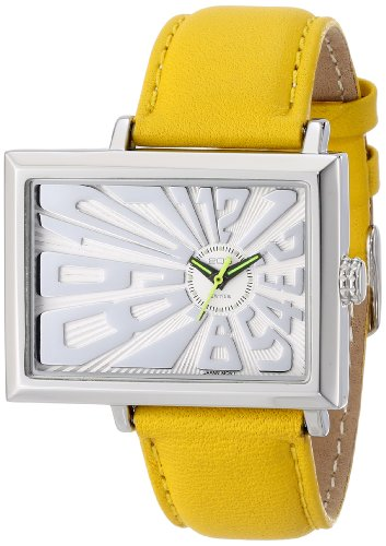 EOS New York Unisex 214SYEL Mad Hatter 2.5 Off Center Dial Watchin Yellow