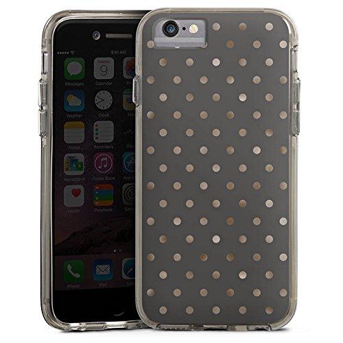 Apple iPhone 6s Bumper Hülle Bumper Case Glitzer Hülle Punkte Pattern Muster Bumper Case transparent grau