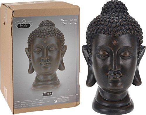 Buddha Büste Kopf Statue Dekofigur Skulptur Tempelwächter 1070