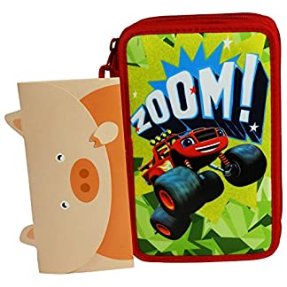 Nickelodeon Blaze and the Monster Machines Estuche Escolar Làpices de colores Plumier triple
