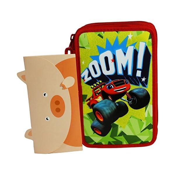 Nickelodeon Blaze and The Monster Machines Estuche Escolar Làpices de Colores Plumier Triple