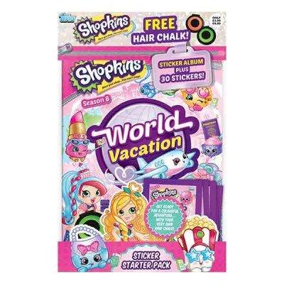 Topps Shopkins World Vacation Sticker Starter Pack Album